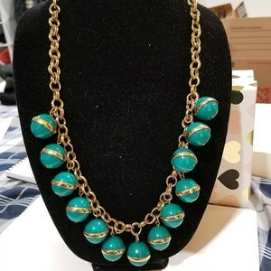 J crew green ball necklace